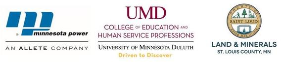 Minnesota Power logo; UMD College of Education and Human Service Professions wordmark; St. Louis County MN Land and Minerals logo